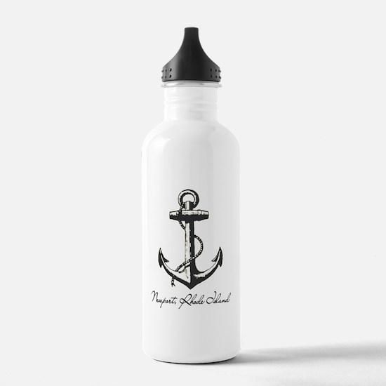 Newport, Rhode Island Anchor Water Bottle
