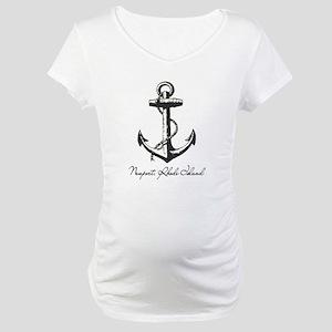 Newport, Rhode Island Anchor Maternity T-Shirt