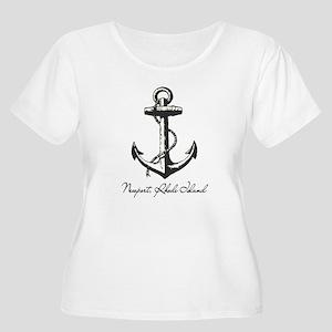 Newport, Rhode Island Anchor Plus Size T-Shirt