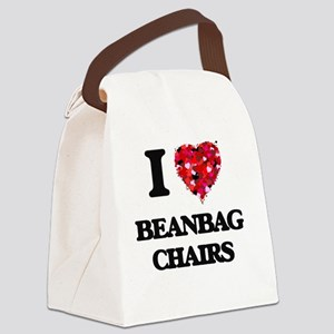 I love Beanbag Chairs Canvas Lunch Bag