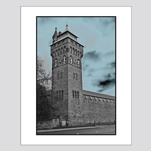 Cardiff Clock Tower - glow 6:9 - Posters