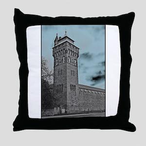 Cardiff Clock Tower - glow 6:9 - Throw Pillow
