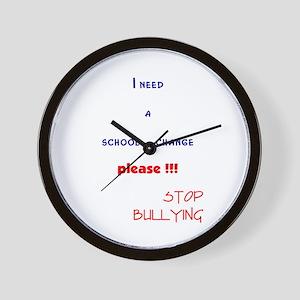 school change,stop bullying Wall Clock