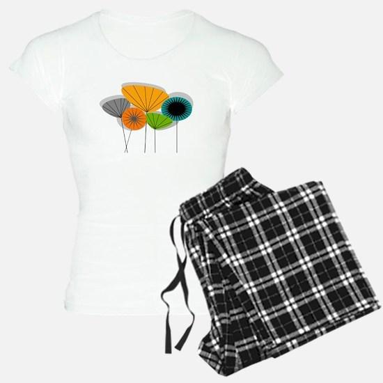 Mid-Century Modern Floral Pajamas