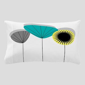 Mid-Century Modern Floral Pillow Case
