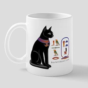 Egyptian Hieroglyphic Cat Mug