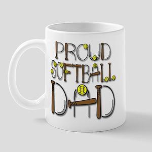 Proud Softball Dad Mug