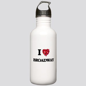 I love Broadway Stainless Water Bottle 1.0L