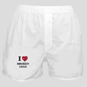 I love Broken Legs Boxer Shorts