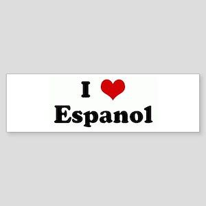 I Love Espanol Bumper Sticker