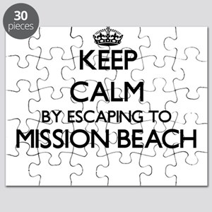 Keep calm by escaping to Mission Beach Cali Puzzle