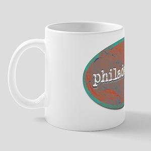 Philadelphia rustic teal Mug