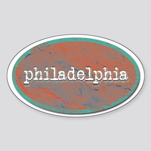 Philadelphia rustic teal Sticker