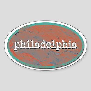Philadelphia rustic teal Sticker