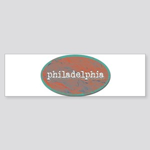 Philadelphia rustic teal Bumper Sticker