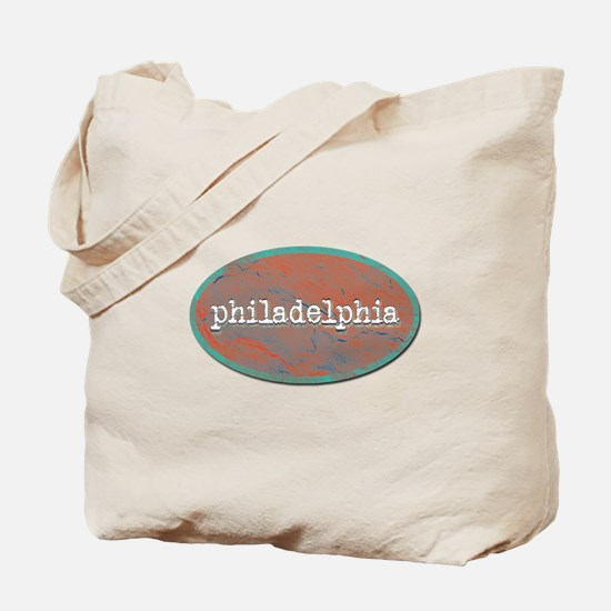 Philadelphia rustic teal Tote Bag