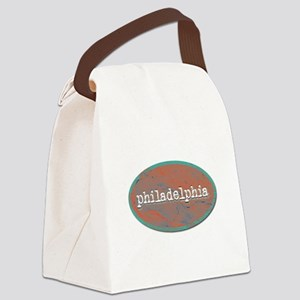 Philadelphia rustic teal Canvas Lunch Bag