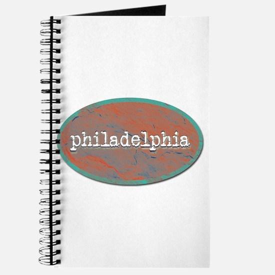 Philadelphia rustic teal Journal