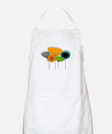 Mid-Century Modern Floral Apron