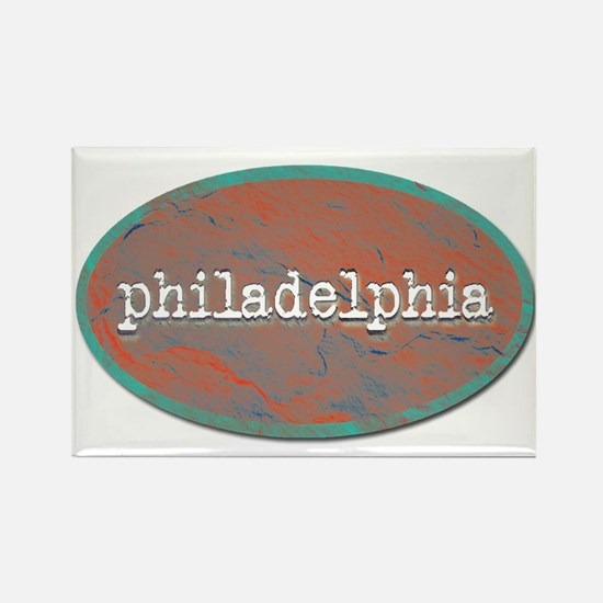 Philadelphia rustic teal Magnets