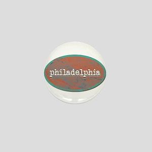 Philadelphia rustic teal Mini Button