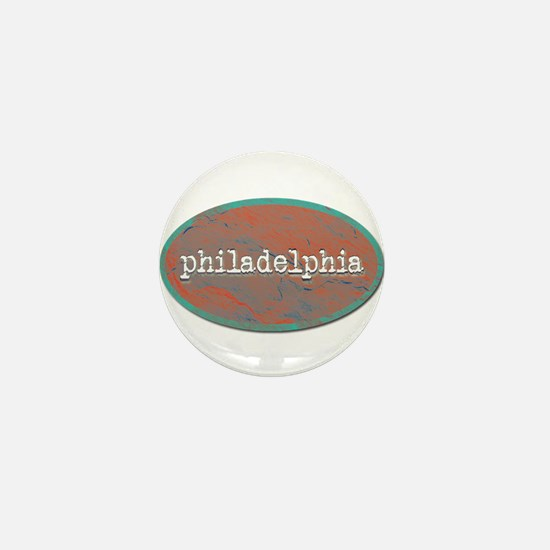 Philadelphia rustic teal Mini Button