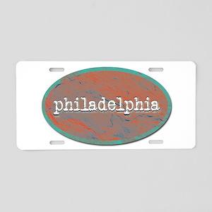 Philadelphia rustic teal Aluminum License Plate