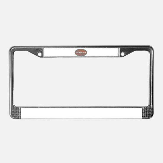 Philadelphia rustic teal License Plate Frame