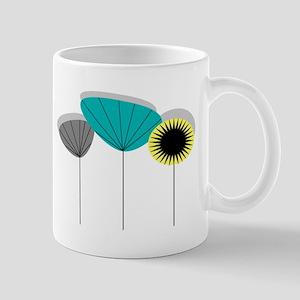 Mid-Century Modern Floral Mugs