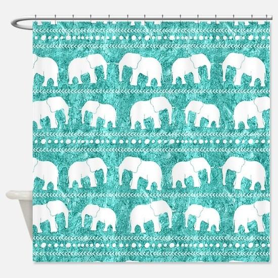 Unique Elephant Shower Curtain