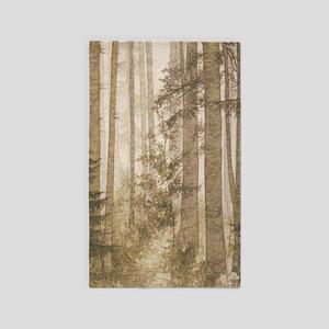 Brown Misty Forest Area Rug