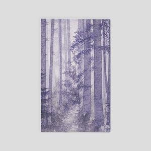 Purple Misty Forest Area Rug
