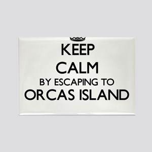 Keep calm by escaping to Orcas Island Wash Magnets
