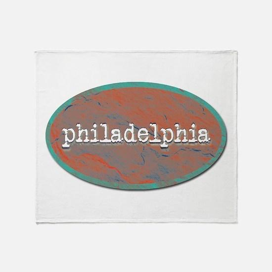 Philadelphia rustic teal Throw Blanket