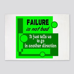 Failure Not Bad 5'x7'Area Rug