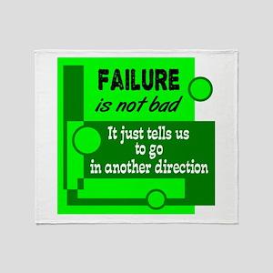 Failure Not Bad Throw Blanket