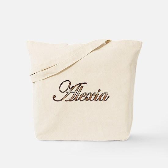 Gold Alexia Tote Bag