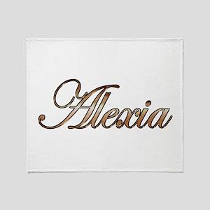 Gold Alexia Throw Blanket