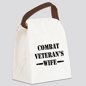 Combat Veteran's Wife Canvas Lunch Bag