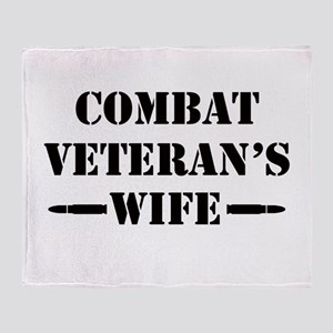 Combat Veteran's Wife Throw Blanket