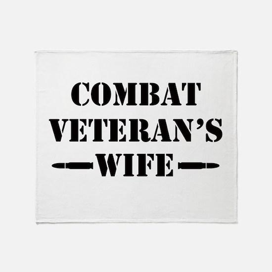 Combat Veteran's Wife Throw Blanket