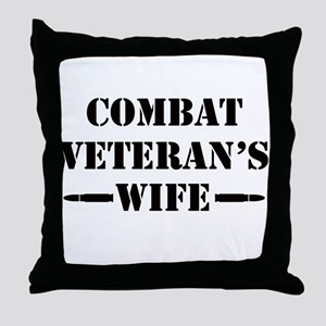 Combat Veteran's Wife Throw Pillow