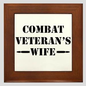 Combat Veteran's Wife Framed Tile