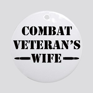 Combat Veteran's Wife Ornament (Round)