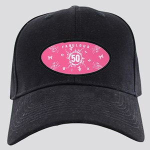 50th Birthday Fabulous Black Cap