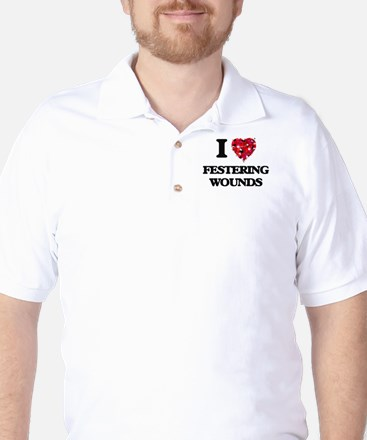 I love Festering Wounds Golf Shirt