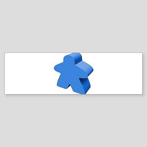 Blue Meeple Bumper Sticker