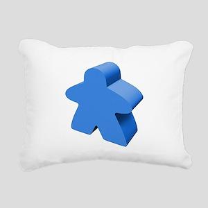 Blue Meeple Rectangular Canvas Pillow