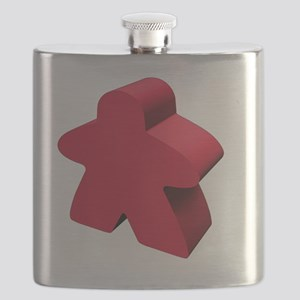 Red Meeple Flask