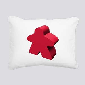Red Meeple Rectangular Canvas Pillow